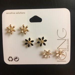 Flower Earrings 3-Pack